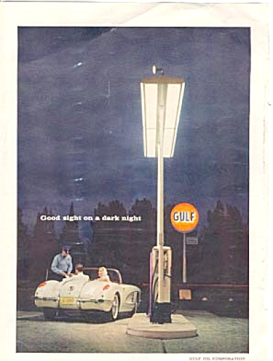 1959 Corvette Man & Woman Gulf Gas Tank Ad (Image1)