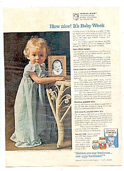 1959 Gerber It's Baby Week Ad