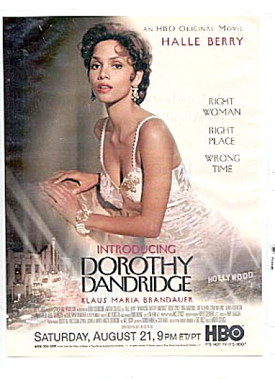 DOROTHY DANDRIDGE Halle Berry  HBO Movie Ad (Image1)