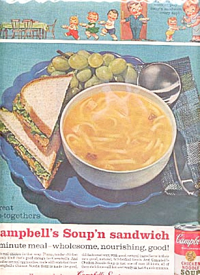 1962 Campbell Soup Blue Fiesta Plate Ad