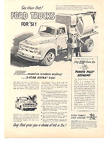 1951 Ford Truck Extra CAB Engineers Ad (Image1)