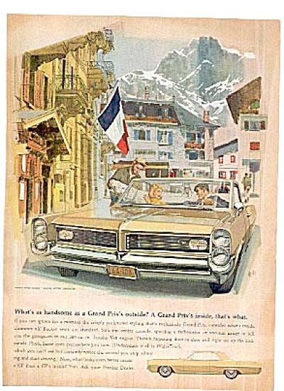 1964 Pontiac Grand Prix Car Ad (Image1)