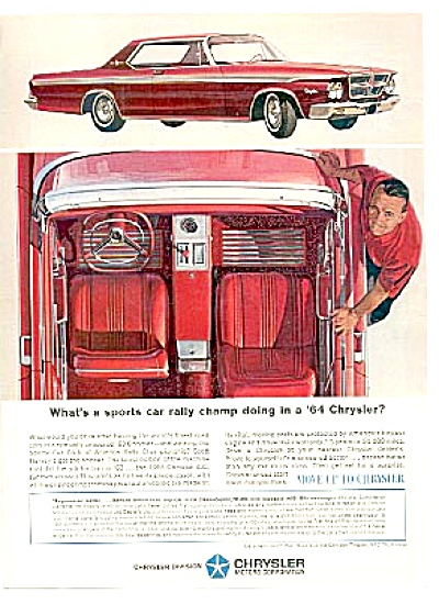 1964 Sports Car Rally Chrysler Car Ad (Image1)