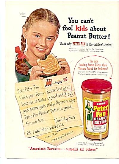 1951 Toni Lyons Peter Pan Peanut Butter Ad (Image1)
