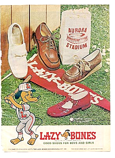 1977 & 1978 2 Ads Lazy Bones Shoemakers Ad