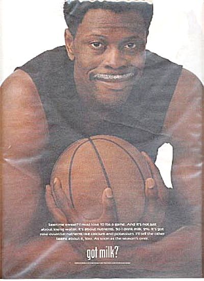 Large Patrick Ewing Got Milk Ad