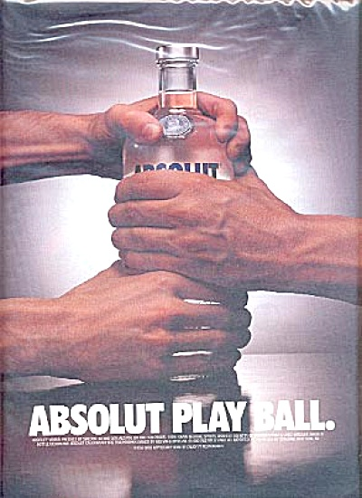 Large Absolut Play Ball Ad