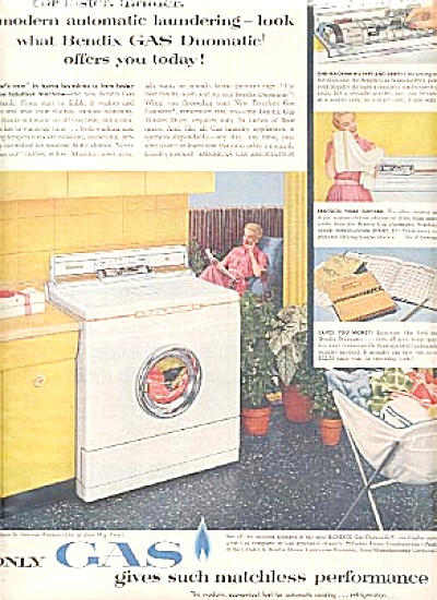 1956 Bendix Gas Duomatic Washer-Dryer Ad (Image1)