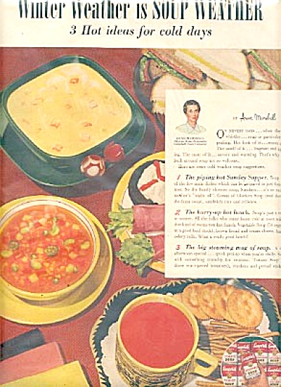 1953 Anne Marshall Campbell Soup Ad