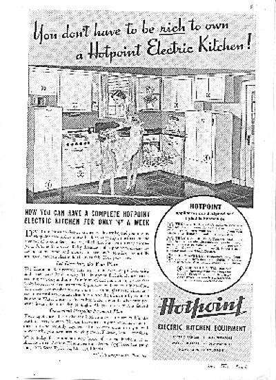 1937 Hotpoint Electric Kitchen Equipment Ad (Image1)