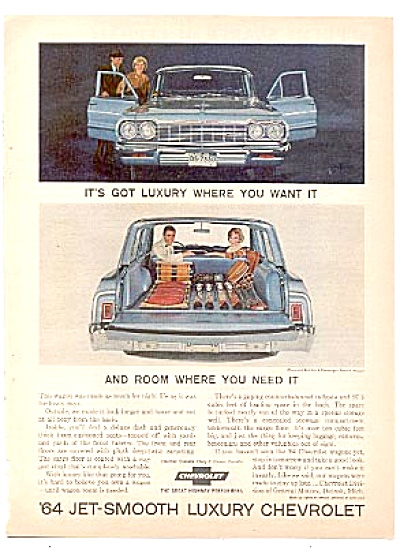 1964  Jet-Smooth Luxury Chevrolet Wagon Ad (Image1)