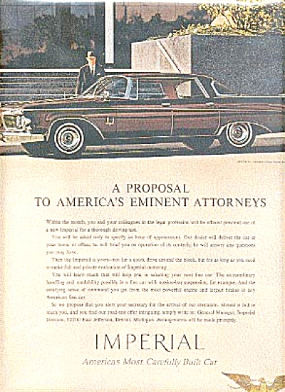 1962 Eminent Attorneys Imperial Car Ad (Image1)