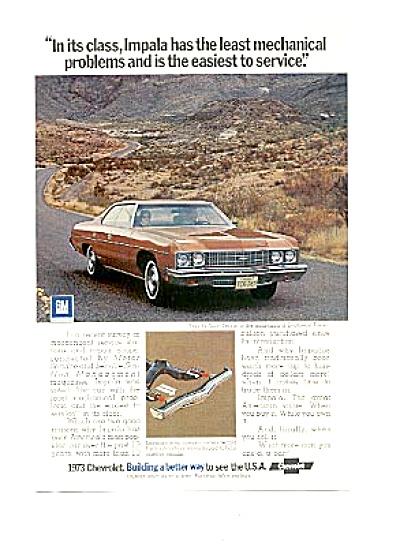 1973 Chevrolet Impala Sport Sedan Texas Ad (Image1)