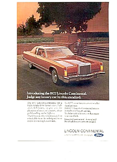 1977 Lincoln Continental Luxury Car Ad (Image1)