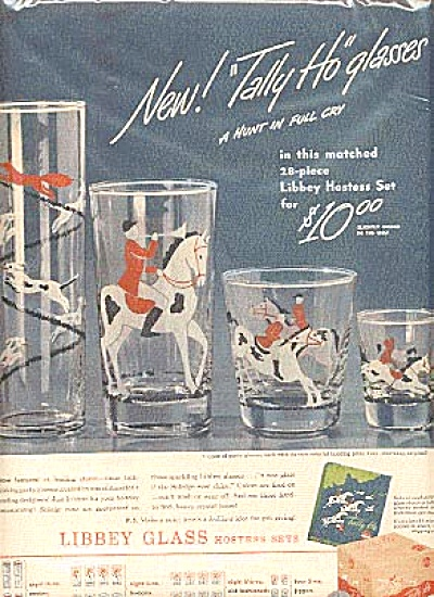1946 Tally Ho Libbey Glass Hostess Sets Ad (Image1)