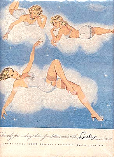 1951 LASTEX Monet  Ladies Heavenly Bra AD (Image1)