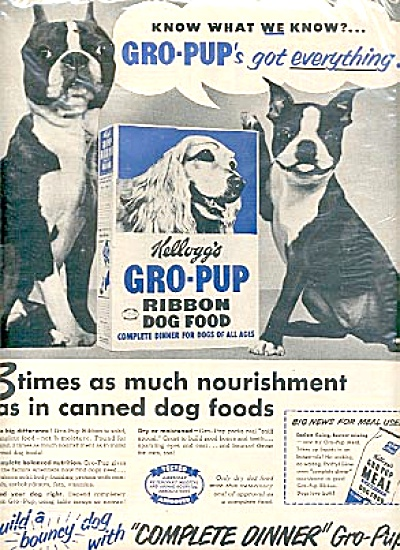 1951 Kellogs Gro-Pup Dog Food Boxer Ad (Image1)