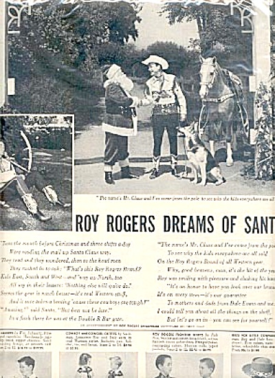 1954 Roy Rogers Double R Bar Ranch 2 Page Ad