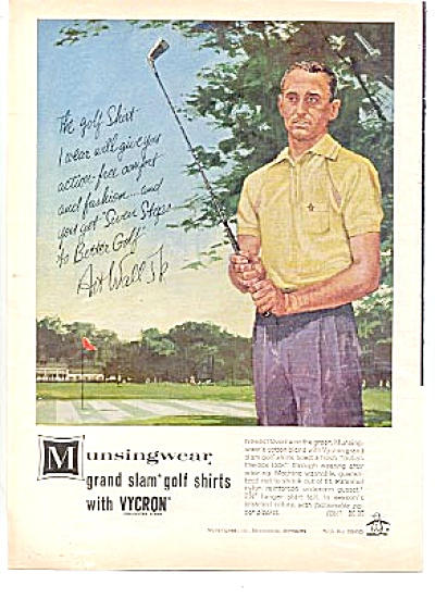 1963 Art Wall Jr. Munsingwear Golf Shirt Ad (Image1)