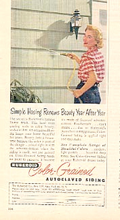 1956 Ruberoid Autoclaved Asbestos Siding Ad (Image1)