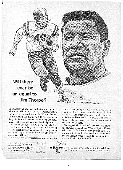 1963 Football Great Jim Thorpe Ad (Image1)