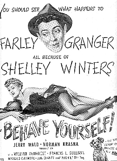 1951 VARGAS MOVIE AD ~ BEHAVE YOURSELF (Image1)