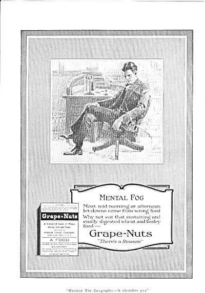 1920 Mental Fog Grape-Nuts Cereal Ad (Image1)