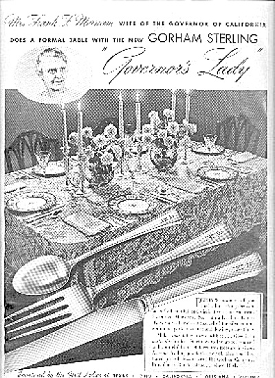 1937 Gorham Sterling GOVERNORS LADY AD (Image1)