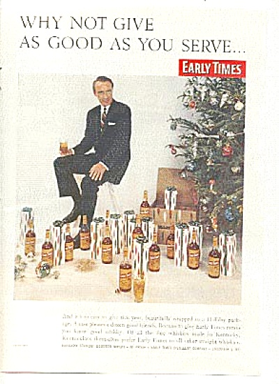 1957 Early Times Whiskey Man Ad