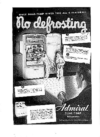 1948 Admiral No Defrosting Refrigerator Ad (Image1)