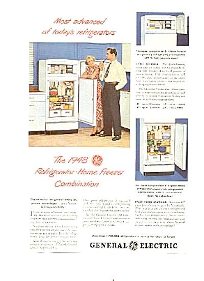 1948 General Electric Refrigerator Freezer Ad (Image1)