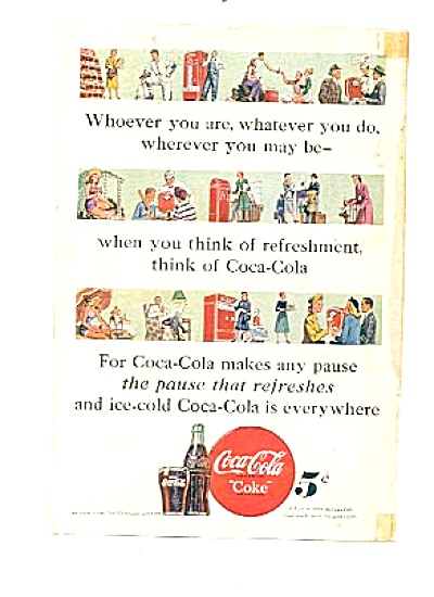1948 Refreshing Coca-cola Pictures Ad Coke