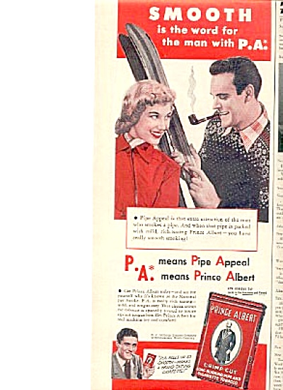 1949 Prince Albert National Joy Smoke Can Ad (Image1)