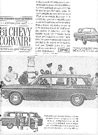 1960 Chevy Corvair Lakewood Chevrolet Car  Ad (Image1)