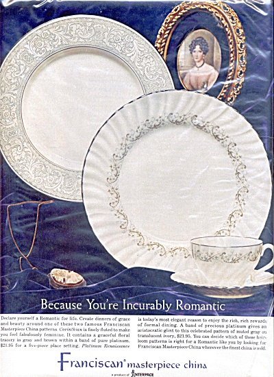 1965 Franciscan Romantic China Ad (Image1)