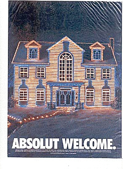 Absolut Welcome Vodka Ad