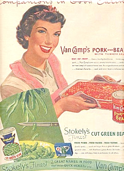 1952 Stokelys & Van Camps Finest Beans Ad (Image1)
