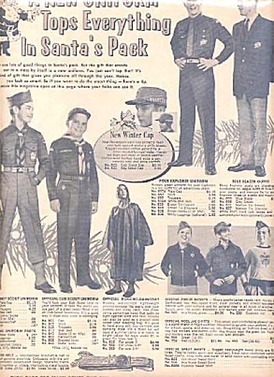 1960 Santa Boy Scout  Uniforms & More Ad (Image1)