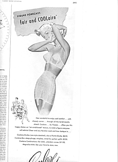1951 Coolaire Woman In Strapless Bra Ad (Image1)