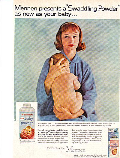 1955 Mennen Swaddling Baby Powder Ad (Image1)