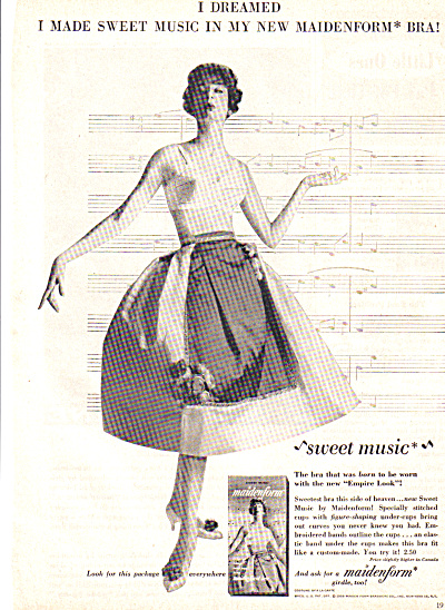 1958 Dreamed Sweet Music Maidenfrom Bra Ad (Image1)
