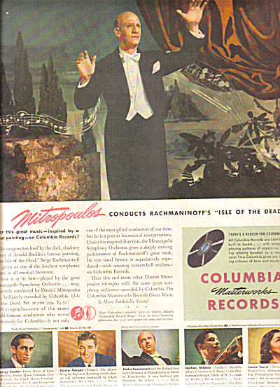 1946 Mitropoulos  Columbia Records Ad (Image1)