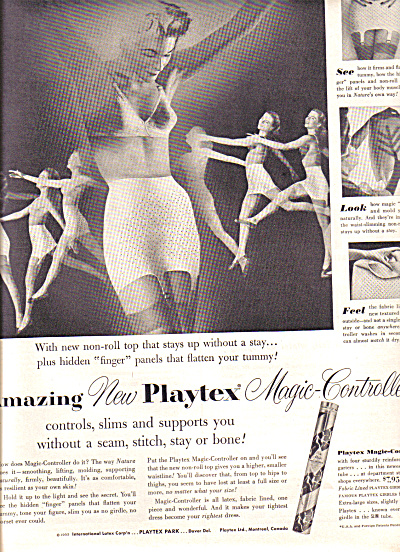 1953 Playtex Girdle  Dancing Girls Ad (Image1)