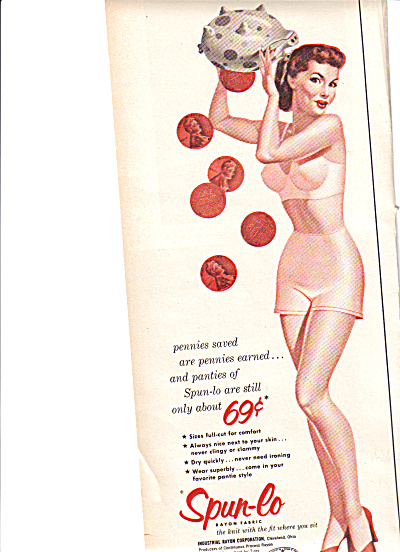 1953 Spun-Lo Pantie Pennies Saved Ad (Image1)