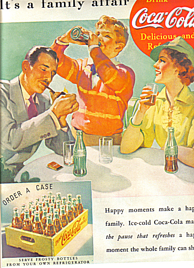 1937 Its A Family Affair Coca-Cola Ad (Image1)