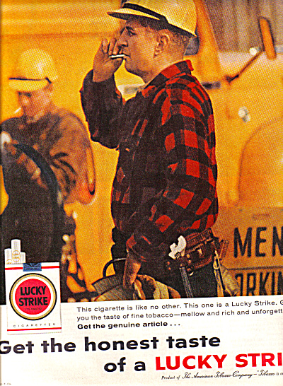 1959 Construction Workers Lucky Strike Ad (Image1)