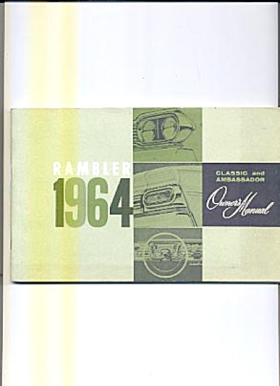 Original Owners Manual 1964 Rambler (Image1)