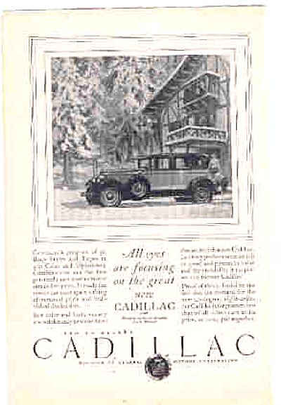 1927 Cadillac General Motors CAR AD (Image1)