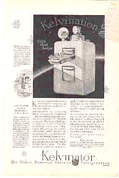 1927 Kelvinator Freezing Unit Ad (Image1)