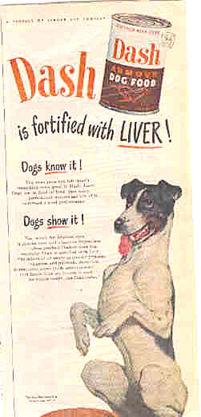 1949 Smooth Fox Terrier Dash Dog Food Ad (Image1)